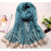Large Size Crumple Polyester Voile Scarf