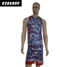 Professional Sportswear Club and Team Player Basketball Jersey / Camo Basketball Jersey