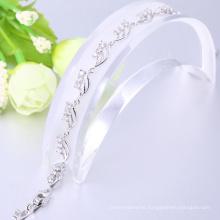 La mayoría de las pulseras personalizadas de oro blanco de regalo de Navidad para las mujeres