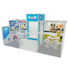 Detian offre stand d'exposition portable de taille différente