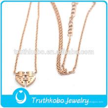 Truthkobo Design Unique Style de la Chine Rose Gold Marry Pendentif Cadeau de Pendentif Bijoux Collier pour les femmes
