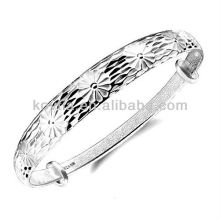 Antique design 999 prata esterlina braceletes pulseiras