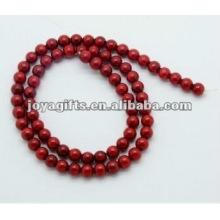 6MM Red Coral Beads Redonda