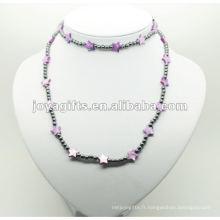 Fashion Hematite Purple Star Pearl Shell Wrap