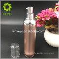 50ml rose gold acrylic airless pump bottle thick round shape bottle