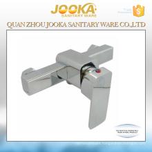 Lever handle chrome squarer bathroom shower faucet