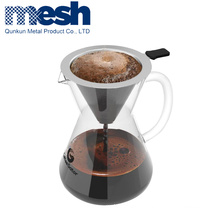 brand paper v60 stainless steel hand drip stitching coffee filter