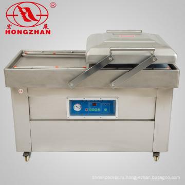 Двухкамерная упаковочная машина для вакуумной упаковки пищевых продуктов