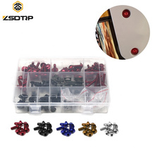 Aluminum CNC Colorful Universal Motorcycle Fairing Windshield Modify Bolts Kits Nuts Fastener Clips Screws For CBR GSXR YZF YBR