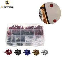 Alumínio CNC Colorido Universal Motocicleta Carenagem Pára Modificar Parafusos Kits Porcas Clipes Fastener Para CBR GSXR YZF YBR