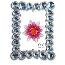 Pedra de acrílico azul transparente Frame da foto