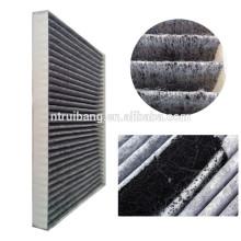 поставка активированный уголь хлопок ткань / ткань фильтра/воздушный фильтр ткань