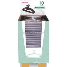 2013 рекламные пластиковые вешалки с картонной коробкой