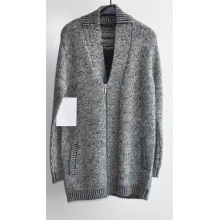Winter V-Neck Knitted Long Cardigan with Zipper for Men