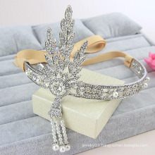 Children Crown And Tiaras Big Pearl Crown Alloy Charm Bridal Tiaras