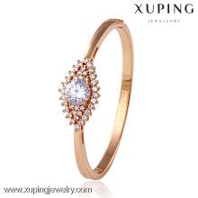 50669 Xuping plaqué or tanishq bracelets dernières conceptions, gros bracelets de fil de soie