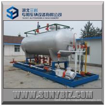 15m3 LPG Abfüllanlage mit Doppeldüsenspender für Nigeria