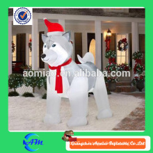 Perro fornido inflable gigante inflable lindo del perro de la decoración de la Navidad para la venta