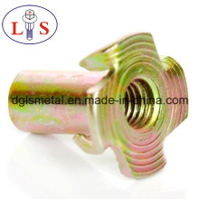 Furniture Nut T Nut Insert Nut with 4 Prongs