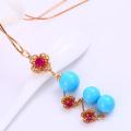 61895 Fashion pearl women jewelry jewelry set , 18K Gold Plated Jewelry Set