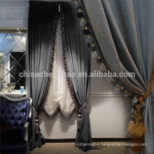 China supplier royal black stage background curtains