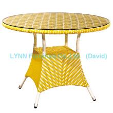 Yellow Rattan Coffee Table Wicker Furniture