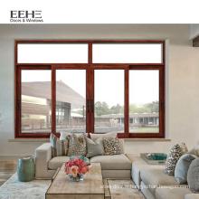 Fenêtre coulissante en aluminium à changement de couleur de verre de conception spéciale