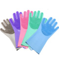 Household Washing Up Gloves Silicone Scrubber Gloves