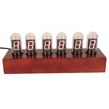 Nixie Tube Digital Clock dengan Rectangular Light Bulb