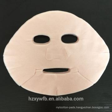 2017 Hot Selling Dry Disposable Pink Rose Printing Colors facial mask sheet