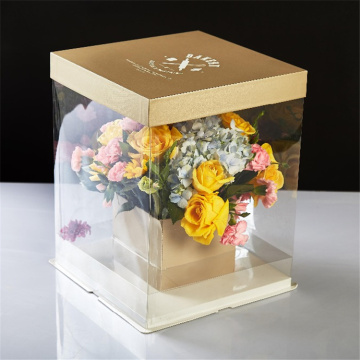 Square Gift Clear Fresh Flower Gói nhựa