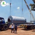 La tecnología más nueva !! Pirólisis de reciclaje de neumáticos de caucho a la planta de petróleo crudo