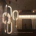 Dining room iron crystal led pendant light