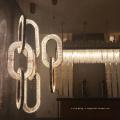 Подвесной светильник с кристаллами железа для столовой