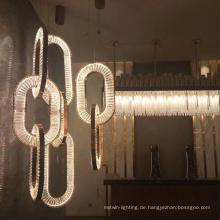 Esszimmer LED-Pendelleuchte aus Eisenkristall