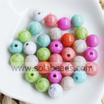 Christmas Wreath 8mm Acrylic Plastic Round Gemball Pony Beads