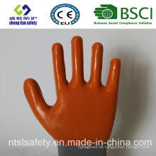 13G Polyester Shell mit Nitril beschichteten Arbeitshandschuhen (SL-N106)