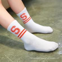 Fashion Strips and Letter Socks for Little Girl Lovely Cotton Socks
