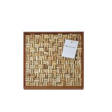 "high quality wholesale custom 22x22"" Wine Enthusiast DIY Wine Cork Board Frame Kit frame box"