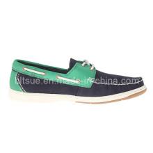 Zapatos de cuero del barco del color de la mezcla de los hombres jovenes