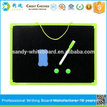 Small chalk board for kids drawing with plastic frame