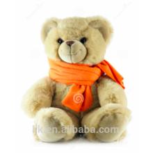 Maßgeschneiderte Plüschtiere benutzerdefinierte gefüllte Tiere Teddybär Schal