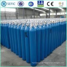 Cilindro de oxígeno de soldadura de acero sin costura de alta presión 40L (ISO9809-3)