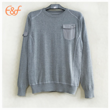 New Fashion Mens Korean Style Grey Sweater