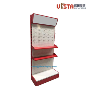 3+Shelf+Floor+Standing+Pegboard+Metal+Display+Stands