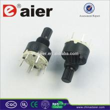Interruptor rotativo de 8 posições, mini comutador rotativo