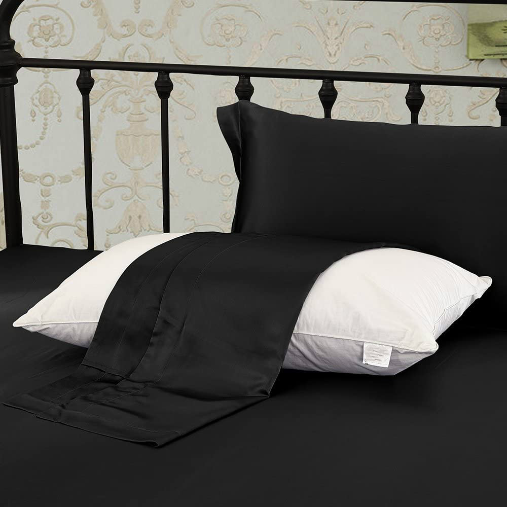 Black Silk Pillowcases