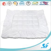 Pure Microfibra de algodão branco preenchido colchão protetor Topper