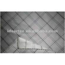 Hilados de polyester de cuadros teñido de tela de imitación de memoria
