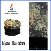 LINGSHANG custom bandana printing polyester bandana polar fleece multifunctional bandana